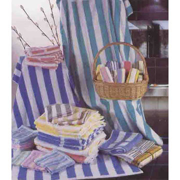 Jacquard Strip Bath Towels