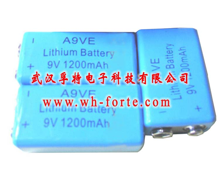 lithium battery 9V square type for alarm smoke