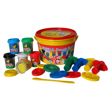 Round Bucket Dough Toys