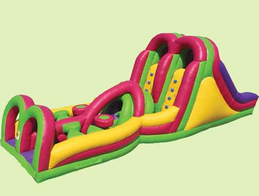 inflatable obstacle course, inflatable sports