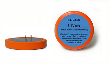 ER2450 lithium thionyl chloride batteries for TPMS