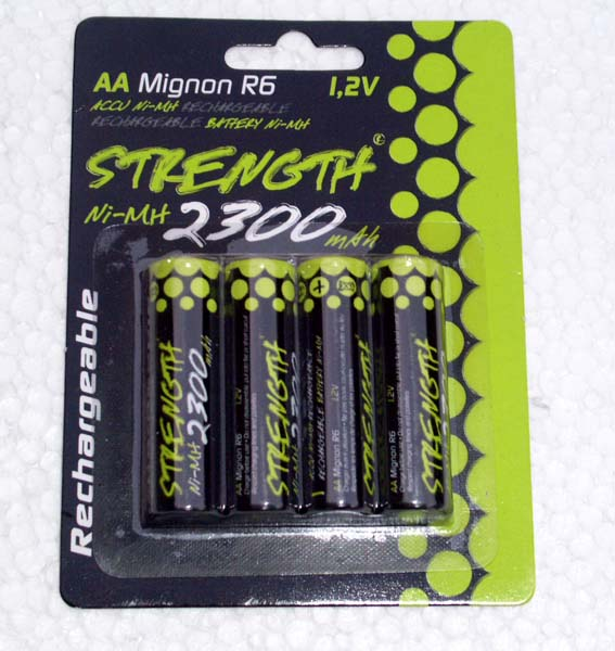 nimh AA 2300 rechargeable batteries