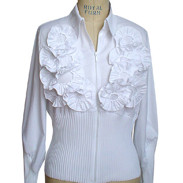 Ladies' Cotton Woven & Knitted Blouse