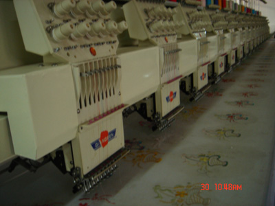 Plain computer embroidery machine