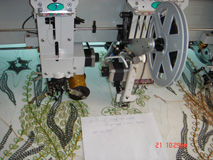 Mixed computer embroidery machine
