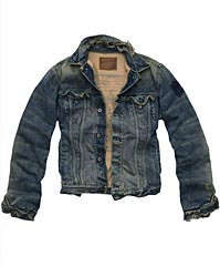 Abercrombie Ezra Fitch Jean Mens Denim Jacket Coat
