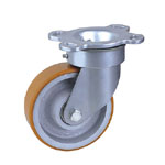 Caster with polyurethane wheel cast iron core 125mm-300mm