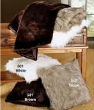 Fake Fur Throw and Pillows