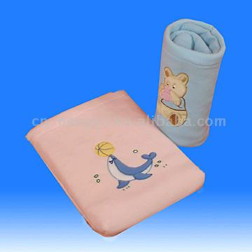 Embroidered Polar Fleece Blanket