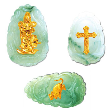 Gold-plated Jade Crafts