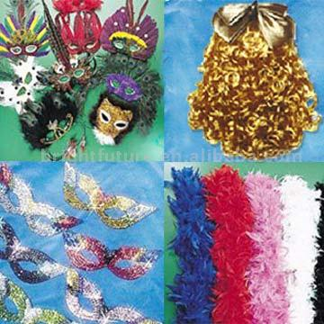 Feather Mask, Feather Boas, Wigs