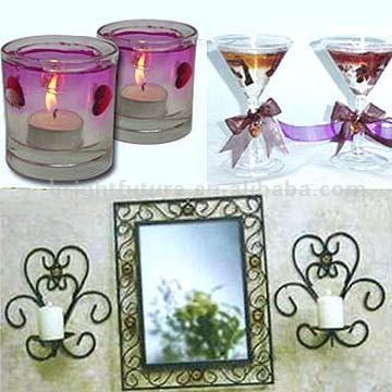 Candle Holder, Gel Candle, Metal Photos