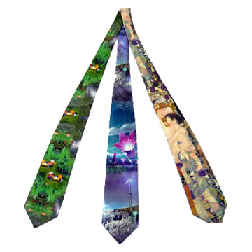 Digital Textile Printed Ties