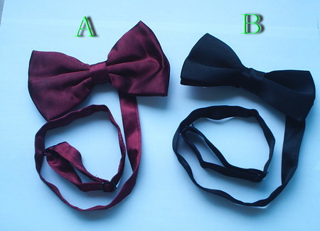 Polyester satin bow tie
