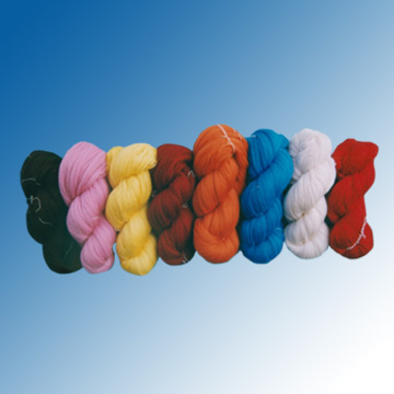 Wool with Acrylic Blended Yarns