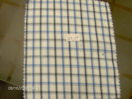 cotton yarn dyed poplin fabric