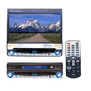 One-DIN 7 TFT DVD Player Fully Compatibles