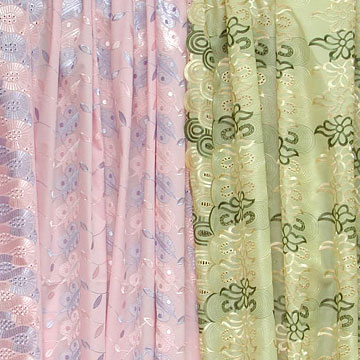 Silk Fabric, Embroiderys