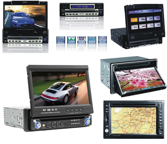 "Touch Screen 7"" TFT DVD/CD-R/CD-RW/MP3/MP4 Cassette Player"
