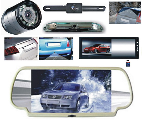 Car Rear View Mirror Monitors - TFT LCD, VCD/DVD/TV/GPS