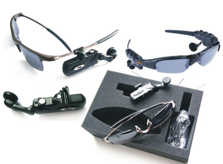 Bluetooth Sunglasses - Wireless MP3, Stereo Earphone with FM
