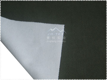 micro polar fleece-transparent TPU membrane-butterfly eyelet fabric