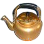 Aluminum golden tea kettle