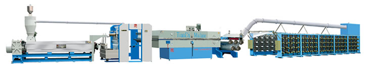 flat film extruder  adn stretching machine
