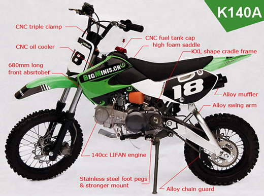 Bigminis K140a Dirt Bike