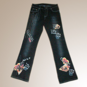 Ladies' Ramie Cotton Printed Pants