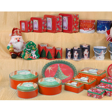 Christmas Gift Tin Boxes