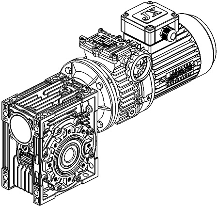 Combination of Basic Model And Worm-gear Speed Reducer