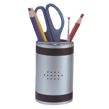 Magic Box pen holder with Radio