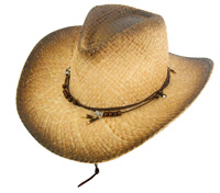 Fashion straw cowboy hat