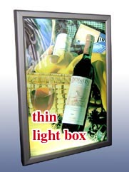 super thin slim light box