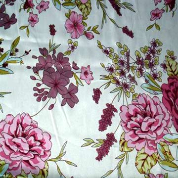 Polyester Sation Print Fabric