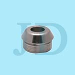 custom designed stainless steel SUS304 shoulder nuts with internal and external threads made by cnc precision machining