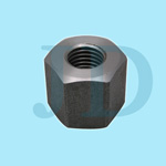 carbon steel AISI1045 made high grade hex blind nut for mining machine turned by cnc lathe