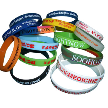 nted Silicone Wristbands