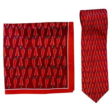 Polyester Printed Ties & Scarf Sets