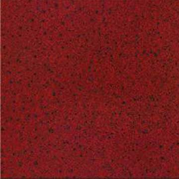 India Red Big Grain Polished Porcelain Tiles