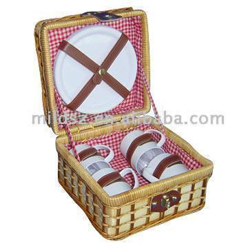 Bamboo Picnic Basket for School Students