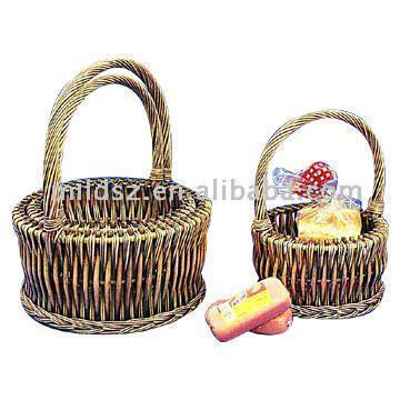Set Of Three Willow Gift Baskets