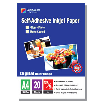 120g - 80g Self-Adhesive High Glossy Inkjet Photo Papers