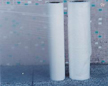 cold water soluble film and hot water soluble nonwoven