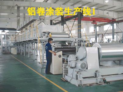 set of aluminum coating line