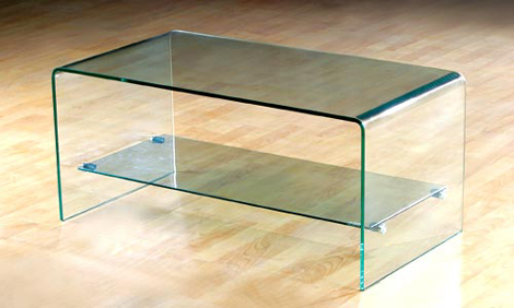 Curved Glass Coffee Tables