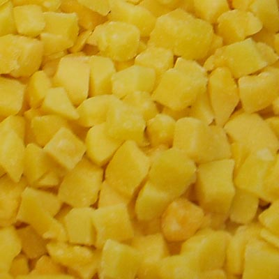 IQF Yellow Peach Cubes
