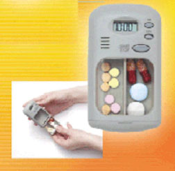 pills box with reminder timer
