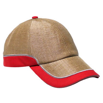 Straw and Cotton Baseball Cap